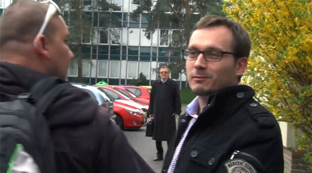 The chair of the ultra-right National Democracy group, Adam B. Bartoš, who was arrested on 28 April 2016 and charged on three counts of crimes against humanity.