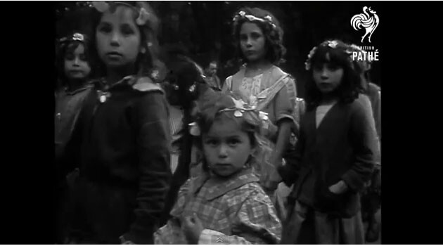 A Roma pilgrimage to Lourdes, 1958. (PHOTO:  print screen from the video footage on YouTube)