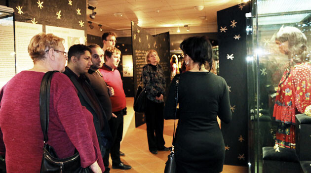 Members of the Czech Government Council for Roma Minority Affairs and Government staffers visited nonprofit organizations working with Romani people in Brno on 24 January 2017. This photograph shows their visit to the Museum of Romani Culture. (PHOTO:  Government of the Czech Republic)