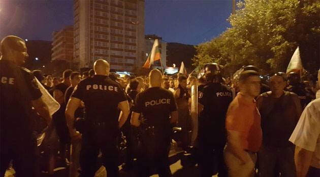 Anti-Roma protests in Bulgaria (July 2, 2017, PHOTO: Btv Novosti)