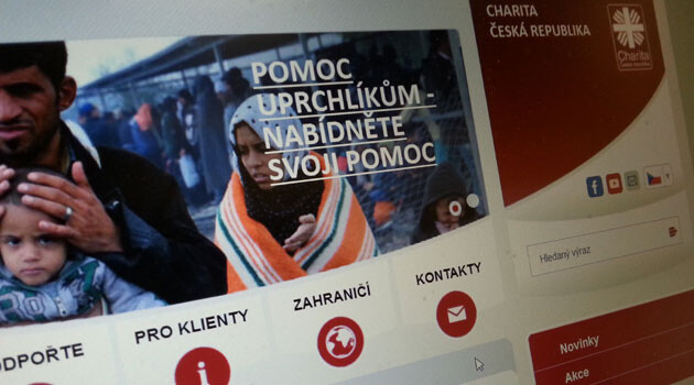 The registration website of Caritas Czech Republic.