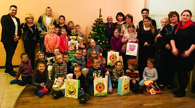 The charity event for children being treated at the Visual Impairment Clinic in Dvůr Králové nad Labem, Czech Republic, 20 December 2017. (PHOTO:  Archive of Robert Tonelli)
