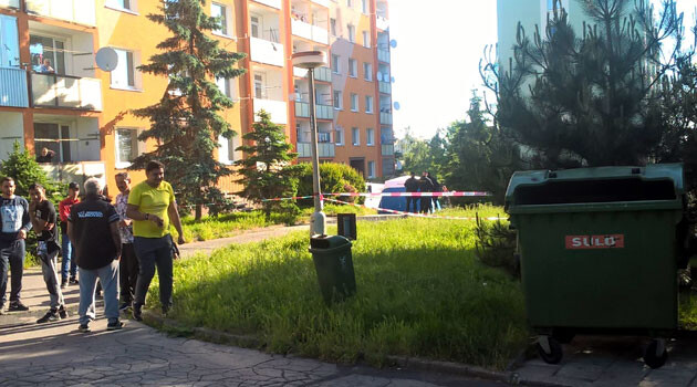 The scene of the shooting death of a Romani man in Chomutov, Czech Republic on 27 May 2017. (PHOTO:  David Ištok)
