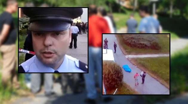 The shooting of a Romani man in Chomutov on 27 May 2017. (COLLAGE:  Romea.cz)