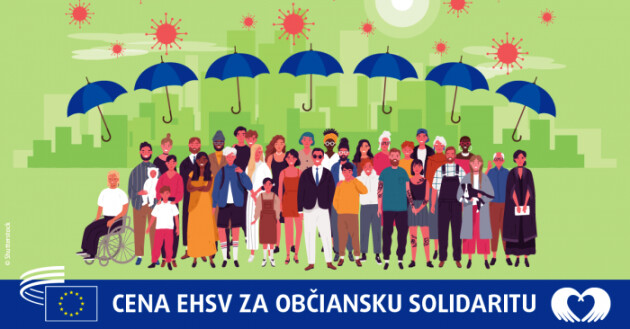 The European Economic and Social Committee's Civil Solidarity Prize (2021). (PHOTO:  Človek v ohrození - People in Need, Slovakia)