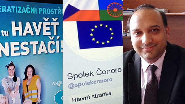 The Czech Govt Agency for Social Inclusion (APSZ) distanced itself on 15 February 2019 from the Čonoro group, whose statutory representative and treasurer is Pavel Pöschl, a former candidate for a local party that used a racist slogan during the 2018 local elections. (Collage: Romea.cz)