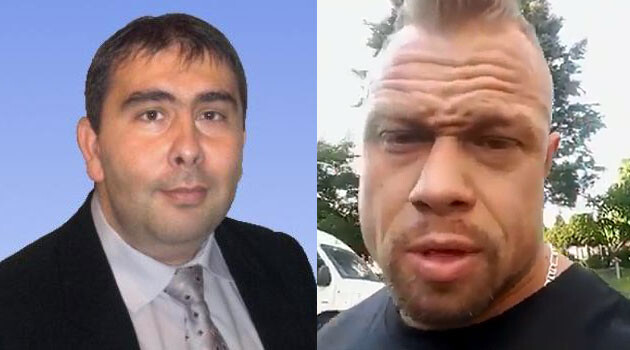 Marian Dancso (left) has commented about Filip Grznár (right), who threatened Romani people in Chomutov with murder (2017). (Collage:  Romea.cz)