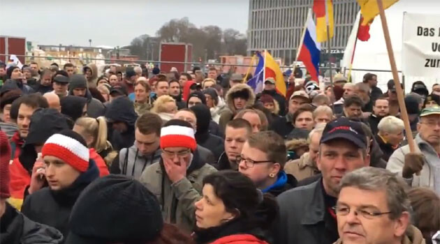 Almost 3 000 right-wing populists and extremists marched on 12 March 2016 through the center of Berlin to express disagreement with the German Government's migration policy. (PHOTO:  YouTube.com)