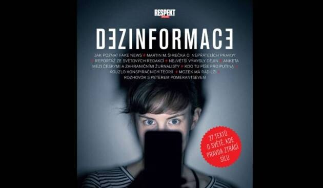 A 2017 cover of the Czech magazine RESPEKT about the issue of disinformation.