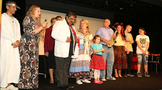 An amateur Romani theater ensemble from Banská Bystrica, Slovakia, performed a production of