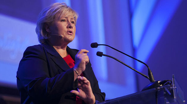 Norwegian Prime Minister Erna Solberg (Photo:  Erik Norrud, Wikimedia Commons)
