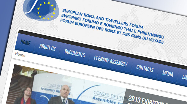 The home page of the European Roma and Travellers Forum (ERTF).