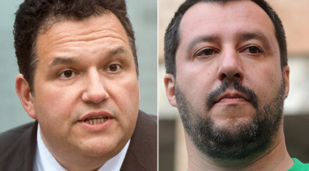 Romeo Franz (left) and Matteo Salvini (Collage: Romea.cz)