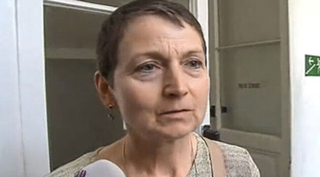 The sole available photograph of JUDr. Galková is this screenshot from a television broadcast. She has refused to meet with the editors of the Deník referendum online daily, who in 2016 called for her to be disciplined by the Czech Justice Minister for her biased behavior in office. (PHOTO:  Deník referendum)