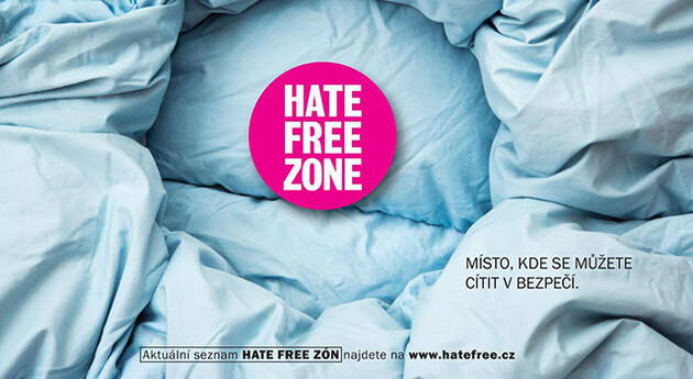 A visual image from the HateFree Zone campaign. (Photo:  HateFree Culture)