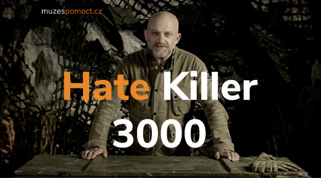Award-winning Czech actor Hynek Čermák in the video advertisement for the Hate Killer 3000 campaign -