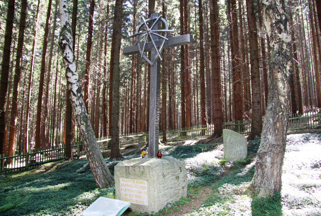 The memorial at the Žalov mass burial site is part of the memorial to the WWII-era concentration camp for Romani people at Hodonín u Kunštátu, Czech Republic. (PHOTO: František Kostlán)