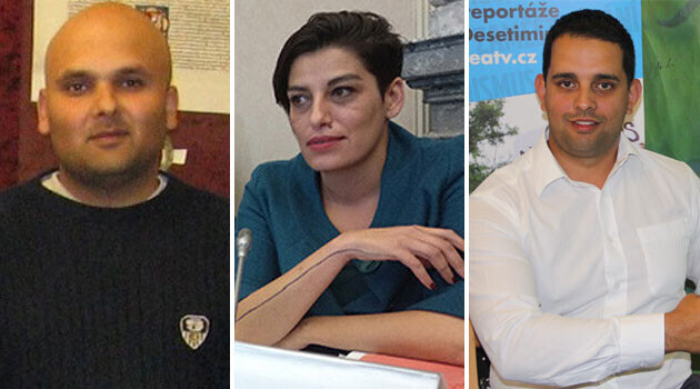 From left to right, outgoing volunteer civil society members of the Czech Government Council on Roma Minority Affairs Jan Husák, Edita Stejskalová and Petr Torák (Collage: Romea.cz)