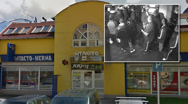 The Intacto gaming room on Jiří Herold Street in Ostrava. (PHOTO:  Google Maps, iDNES.cz video reproduction, Collage:  Romea.cz)