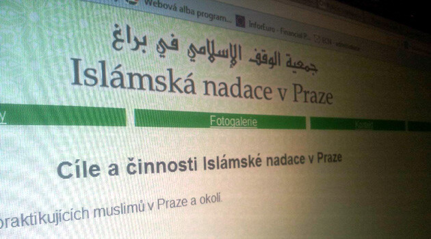 The website of the Islamic Foundation in Prague (PHOTO:  Romea.cz)