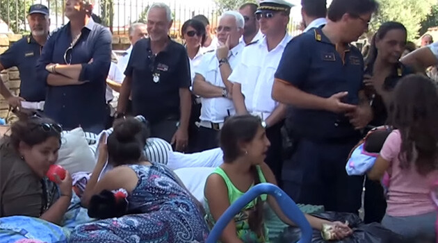 At the end of July 2018 the Italian Police evicted almost 400 Romani people from cottages on the outskirts of Rome where they had been living since 2005. (PHOTO:  YouTube.com)