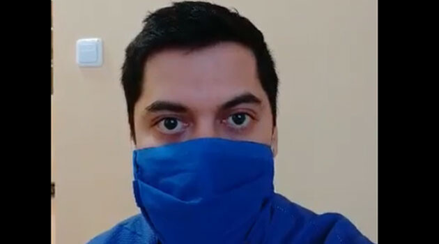Dr Jakub Jarý, a Romani community member, during the COVID-19 pandemic in the Czech Republic, March 2020. (PHOTO:  Facebook DROM)