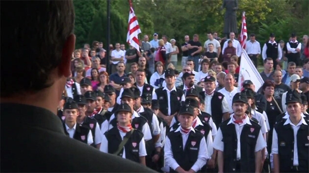 The Hungarian Guard, a paramilitary organization, was banned in 2009. PHOTO: http://fxb.harvard.edu
