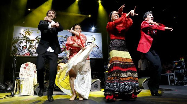 Khamoro 2014 closed on Saturday, 31 May 2014 with a gala concert in the SaSaZu club in Prague - shown here, the members of Puerto Flamenco from Spain. (PHOTO:  Facebook page of the Khamoro World Roma Festival)