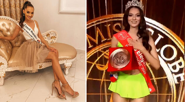 Romani community member Nikola Kokyová, who is Miss Czech Republic 2019, competing in the
