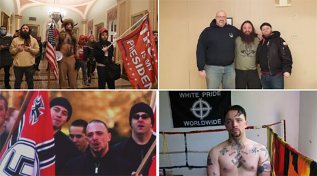 The identification of one of the neo-Nazis who attacked the building of Congress in the United States of America on Wednesday, 6 January 2021. (PHOTO:  @sparrowmedia)