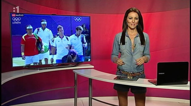 Kristína Kormúthová, sports reporting anchor on the RTVS public broadcasting station, was removed in 2014 over a racist Facebook post. (PHOTO:  Repro  STV)