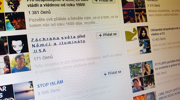 The Czech-language Facebook groups that Radek Koten of the