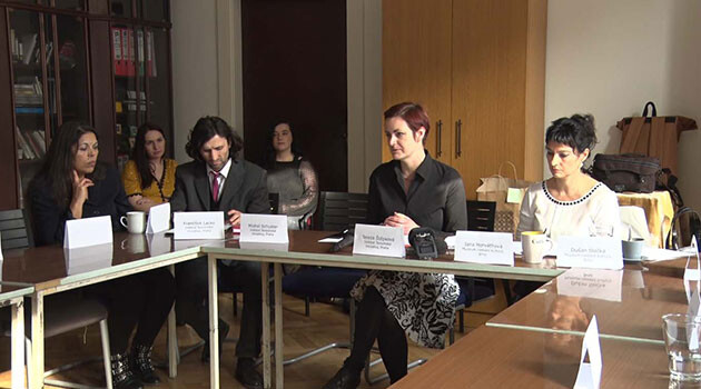 Almost 30 people from various fields gathered on 26 January 2018 at the invitation of the Terezín Initiative Institute and the Museum of Romani Culture for a round table at the Institute's headquarters in the building of a former Jewish school on Jáchymova Street in Prague to discuss the possible creation of a Lety Platform that would, as a working group, discuss the form of the future remembrance site at Lety u Písku. (PHOTO: František Bikár)