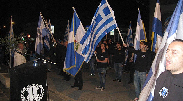 An assembly by neo-Nazis from the National-People's Front (ELAM) party in Cyprus. (PHOTO:  http://www.elamcy.com/)