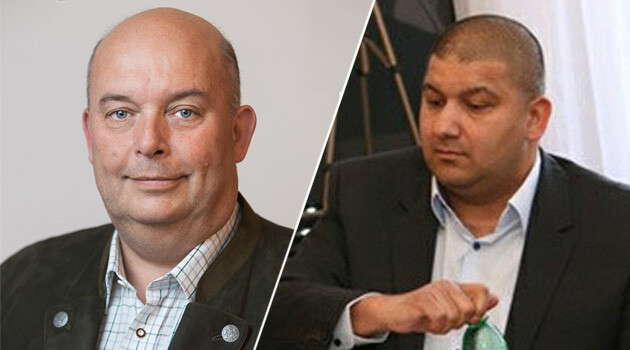 Czech Agriculture Minister Miroslav Toman (left) and the president of the Association of Romani Entrepreneurs and Guilds of the Czech Republic, Vladimír Leško (right). (Collage:  Romea.cz)