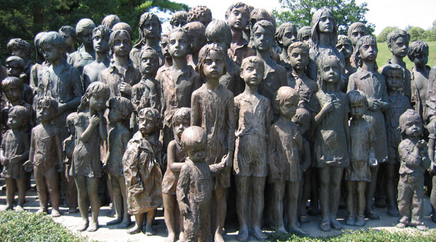 Part of the memorial at Lidice, Czech Republic commemorating the gassing to death of 82 local children in reprisal for the assassination of Reichsprotektor Reinhard Heydrich on 4 June 1942. (PHOTO:  Wikipedia.org)
