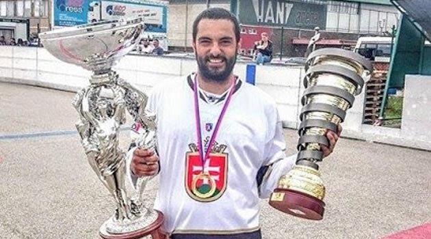 Martin Daniel, the ball hockey champion of Slovakia. (PHOTO:  Stano Daniel)