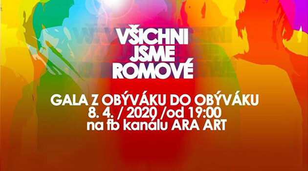 International Romani Day 2020 celebrations in the Czech Republic. (Poster by ARA ART)