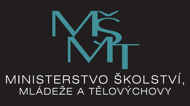 The logo of the Czech Ministry of Education, Youth and Sport.