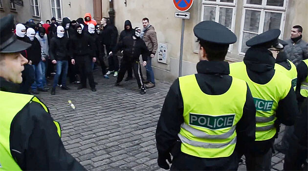 On 6 February 2016 a group of neo-Nazis attacked a peaceful procession by the