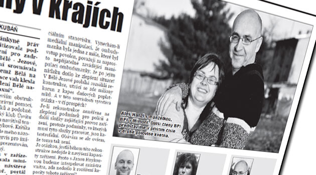 Národní Listy (National News), a periodical published by the Dawn (Úsvit) movement together with the Bloc against Islam, introduces its Bloc against Islam members in Mimoň, Czech Republic. In these photos, Jiří Hanzl and Romana Hanzlová, who run the Lampa NGO, are presented as Bloc against Islam members - Mr Hanzl is misidentified by the periodical as