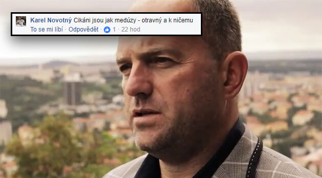 Karel Novotný of the Czech Social Democratic Party and his racist post to Facebook published on 14 September 2017.