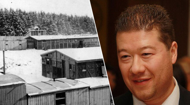 Czech MP Tomio Okamura has repeatedly doubted the suffering of the Romani prisoners of the WWII-era concentration camp at Lety u Písku. (Collage: Romea.cz)