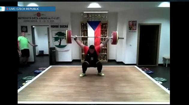 Romani community member Dominik Oračko from the Sports Club Weightlifting Sokolov division won three gold medals representing the Czech Republic in the International Weightlifting Federation Online Youth World Cup for competitors age 17 and younger on 18 November 2020. (PHOTO:  YouTube.com)