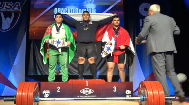 Dominik Oračko, a Romani athlete from the Czech Republic, won two gold medals and a silver in his age and weight category at the Youth World Weightlifting Championships on 15 March 2019 in Las Vegas. (PHOTO:  YouTube)