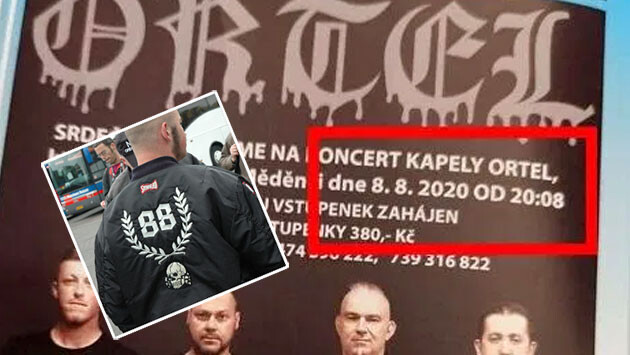 In the Czech town of Měděnec, on 8.8 at 8:08 PM a concert by the band Ortel will take place. This is clearly Nazi symbolism. (Collage:  Romea.cz)