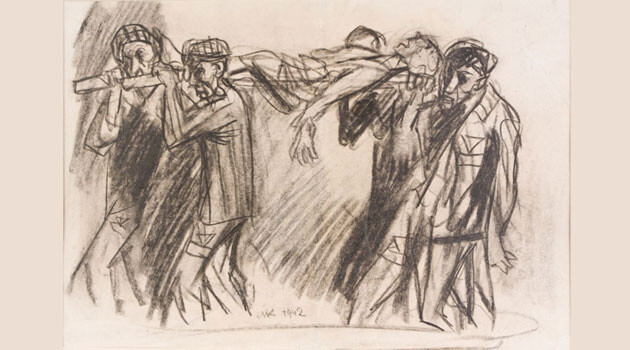 A drawing from the Auschwitz death camp. (PHOTO: Auschwitz-Birkenau Memorial and Museum,  http://auschwitz.org)