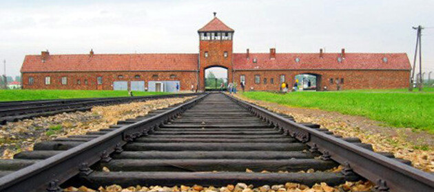 The Auschwitz-Birkenau concentration camp.