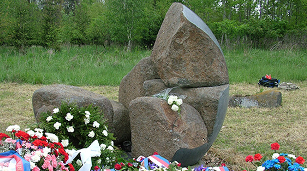 The memorial at the site of the former WWII-era concentration camp for Romani people at Lety u Písku in 2004. (PHOTO:  Romea.cz archive)
