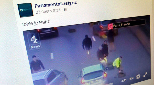 The Czech tabloid Parlamentní listy manipulated its readers once again in February 2017 by associating a year-old video from a protest against Uber by taxi drivers in Paris with more recent unrest there that has erupted in response to the anal rape of a black youth committed during a police intervention. Instead of informing its readers about that abuse of police power, the Czech tabloid has fed them more justification for hating immigrants.